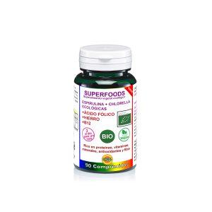 ESPIRULINA Y CHLORELLA CON B12 BIO EN 90 PASTILLAS