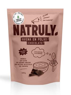NATURAL AVENA EN POLVO CHOCOLATE  BIO 500 G